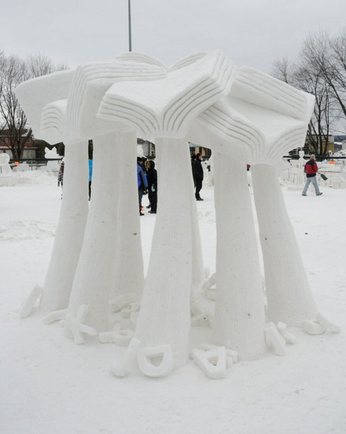 Sculptures sur neige